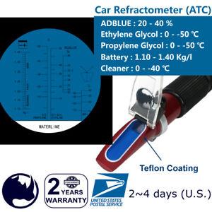 Glycol-Antifreeze-Battery-Urea-Tester-Tool-Kit-Rhino-Refractometer-HR408-ATC