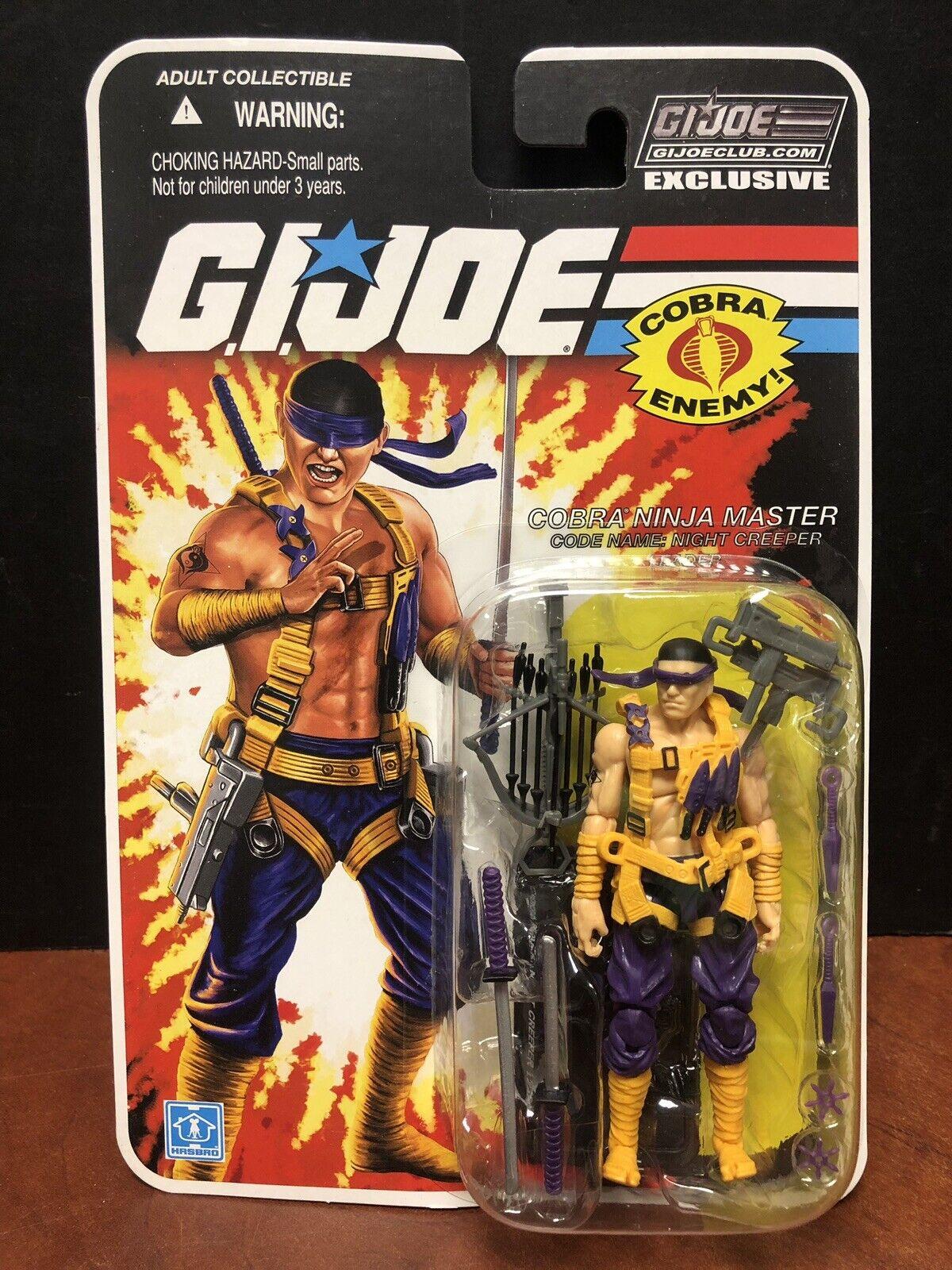 GI Joe Club Exclusive Cobra Ninja Master Night Creeper Dela0234