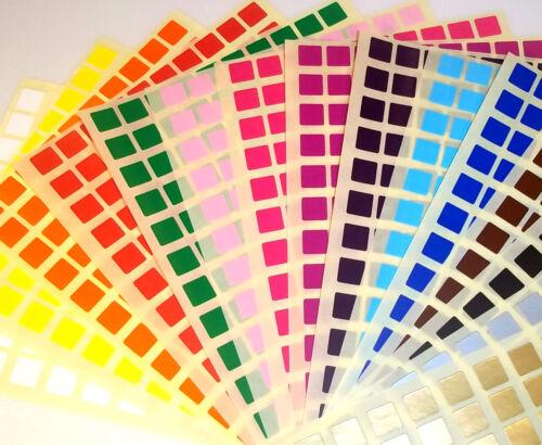 10mm Carré 6mm Cercle Couleur Code Poids Vierge Prix Stickers Adhésif Étiquettes