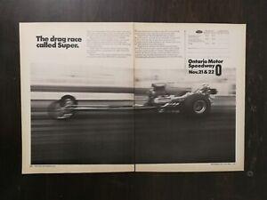 Vintage-1971-Ontario-Motor-Speedway-Two-Page-Original-Ad