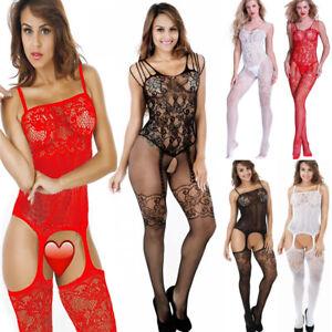 7d71075fc08 Image is loading Sexy-Women-Lingerie-Nightwear-Open-Crotch-Fishnet-Body-