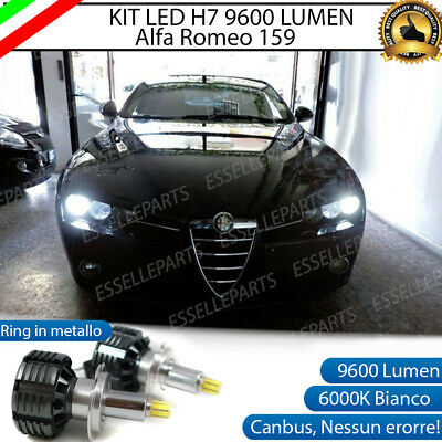 KIT A LED H7 FIAT 500 RESTYLING CANBUS 6000K XENON 9600 LUMEN 80W NO AVARIA LUCI