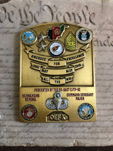 Challenge Coin 82 Nd Airborne Division RC East CJTF 82 OEF X