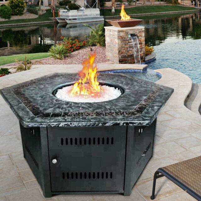 Gas Fire Pit Outdoor Backyard Garden