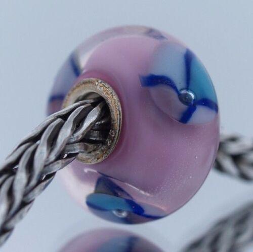 Authentic TROLLBEADS Retired Rose Perle 61197 neuf en verre Charm Bead