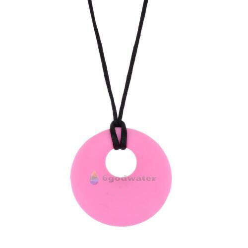 BPA Free Baby Safe Silicone Teething Necklace Kids Teether Nursing Beads Pendant