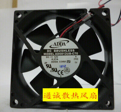 for ADDA 8020 AD0812HB-C70 DC12V 0.24A Chassis//Power Cooling Fan