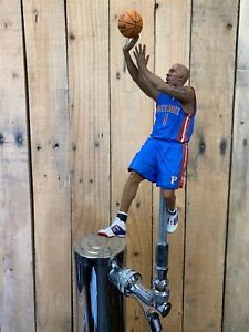 DETROIT-PISTONS-Tap-Handle-NBA-Basketball-Beer-Keg-Chauncey-Billups-Blue-Jersey