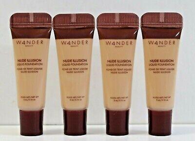 4x Wander Beauty Nude Illusion Liquid Foundation Fair