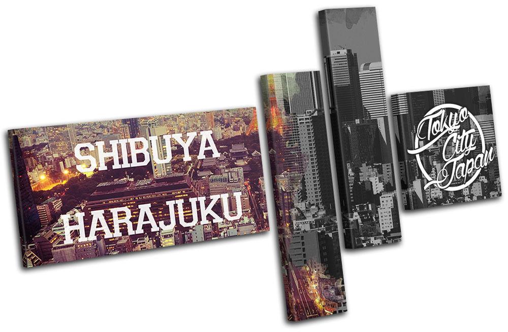 Tokyo Tokyo Tokyo Typography City MULTI TELA parete arte foto stampa d75d9f