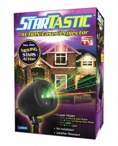 Startastic Dancing Holiday Christmas Lights Laser Light Show As Seen on TV - NEW