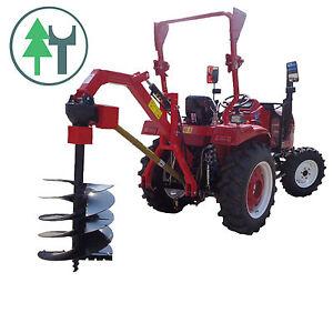 Gelenkwelle Traktor Heckanbau inkl Erdbohrer 150 mm Erdbohrgerät Pfahlbohrer f