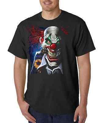 Joker Clown With Cigar Evil Smile T-Shirt All Sizes (555)