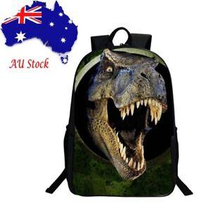 1e1b75e4805c Image is loading 3D-Dinosaur-Boys-Backpack-Animal-Print-School-Bags-