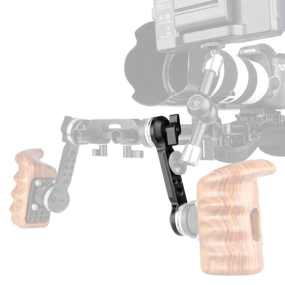 Niceyrig FS7/URSA Mini/RED 360° Adjustment Extension Arm w/with 2 Arri Rosette