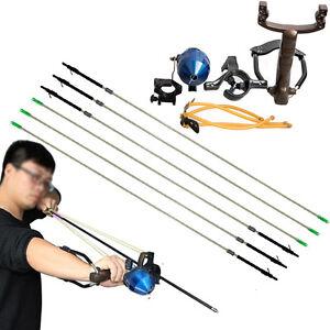 Fionda-Catapulta-di-pesca-caccia-PESCI-carbon-frecce-Set-Tiro