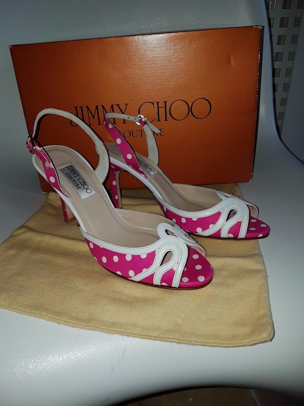 Signagture New Jimmy Choo    s Talons Chaussures Taille 38 fait main 7cd08c