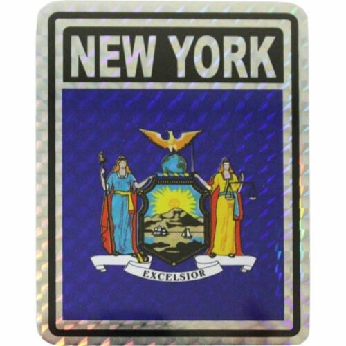 State of New York Flag Reflective Decal Bumper Sticker