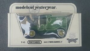 Matchbox-Models-of-Yesteryear-Y-12-1912-Ford-Model-T-Green-25-Years-Edition