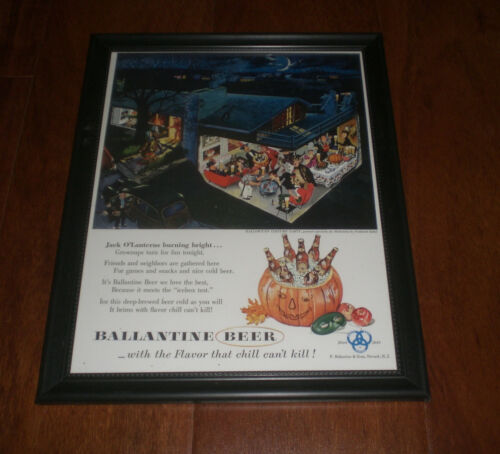 YOUR CHOICE BALLANTINE BEER FRAMED COLOR AD PRINTS