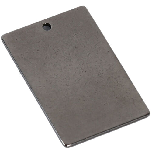Metal Tags Blank Embellishment Stamping Tag Pendant DIY Jewelry Making LC
