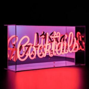 Image Is Loading Acrylic Box Neon Light Sign Tail Lamp Decor