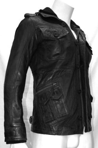 Stylish Leather Men's Designer Soft Fashion Napa Jacket Jap Real Casual Black BqqxEfA