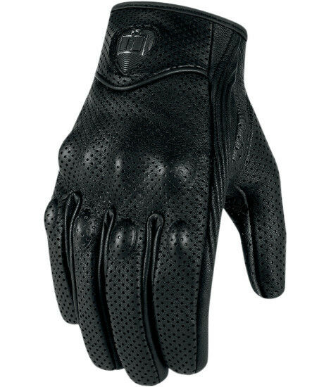 Icon Pursuit Touchscreen Leather Motorcycle Gloves