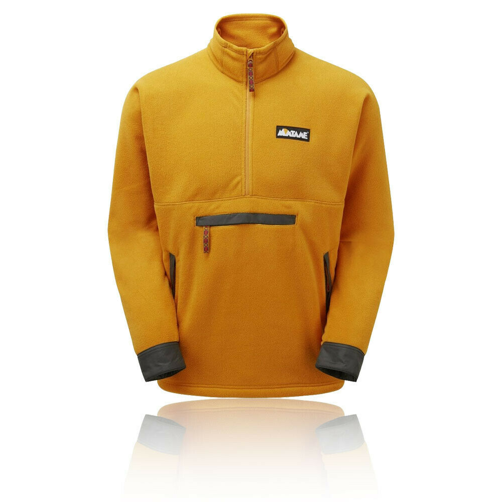 Montane Mens Roco Half Zip Pull Over - Yellow Sports Outdoors Warm Breathable