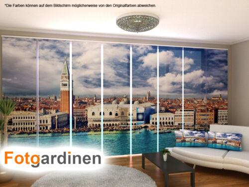 Fotogardinen Venedig Schiebevorhang Schiebegardinen 3D Fotodruck auf Maß