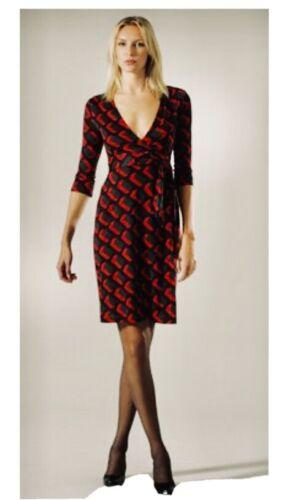 Diane Von Furstenberg Julian Wrap Dress Size 12