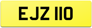 EJZ 110 DATELESS AGE COVER NUMBER PLATE / LAND ROVER DEFENDER TWISTED XS MUD EJ