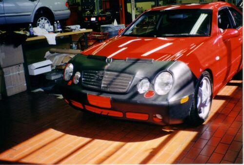 Fits Mercedes Benz CLK430 1999-2003 W//O License Colgan Front End Mask Bra 2pc