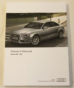 genuine audi a4 s4 saloon and avant handbook owners manual 2011 2015 rh ebay com audi a4 owners manual 2013 2011 audi a4 quattro owners manual