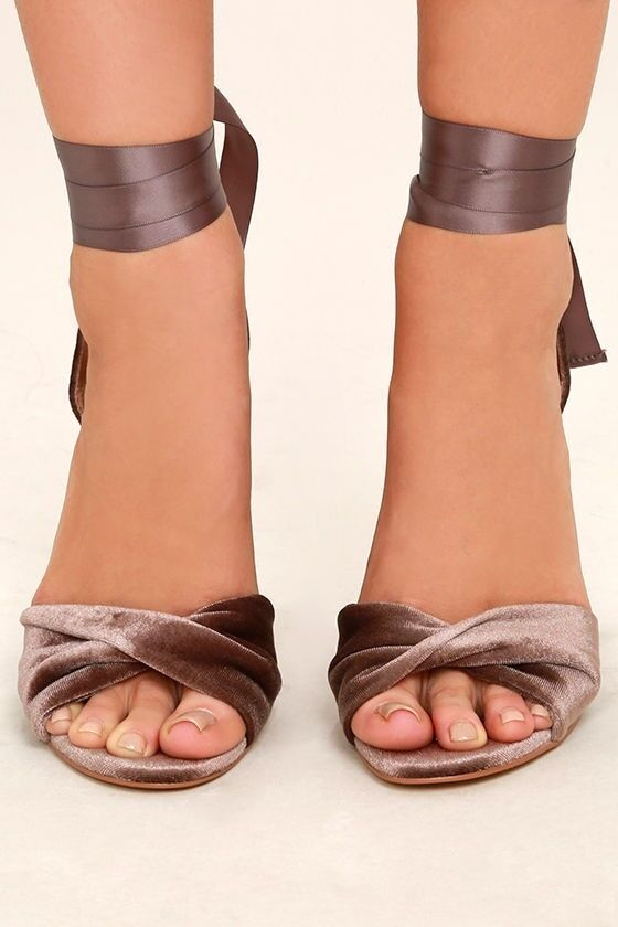 New Steve Madden femmes Clary High Heel Tie Up Sandal chaussures Taupe Couleur Taille 6.5