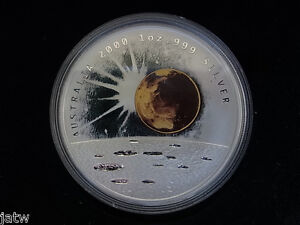 Australia-2000-Millennium-1-oz-Silver-Dollar-Moon-Earth-Sun-Cased-PROOF