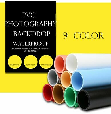 68x130cm Photography Backdrop Matte PVC Background Paper Kit for Photo Video Photography Studio Meking 27x51inch 9 in 1 kit