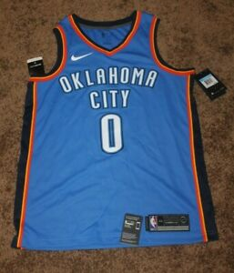 pretty nice aa9e7 c45a2 Details about NEW Nike RUSSELL WESTBROOK Oklahoma City OKC THUNDER Swingman  Jersey MEDIUM 44