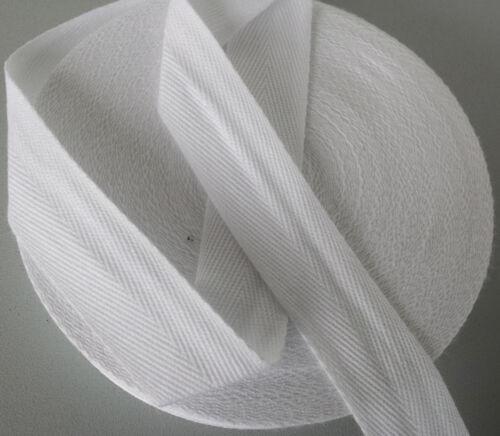 75mm Blanc Beige Naturel Sangle Coton Tablier Bracelet Ruban Couture 6mm