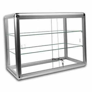 Countertop Glass Display Case : Glass Countertop Display Case Store Fixture Showcase with front lock # ...
