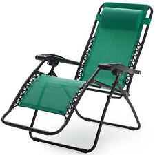 Bon Green Zero Gravity Chair Outdoor Folding Recliner Lawn Patio Pool Camping  Beach