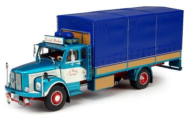 TEK69188 - Camion porteur SCANIA L Bege remorque bâché aux couleurs du transport