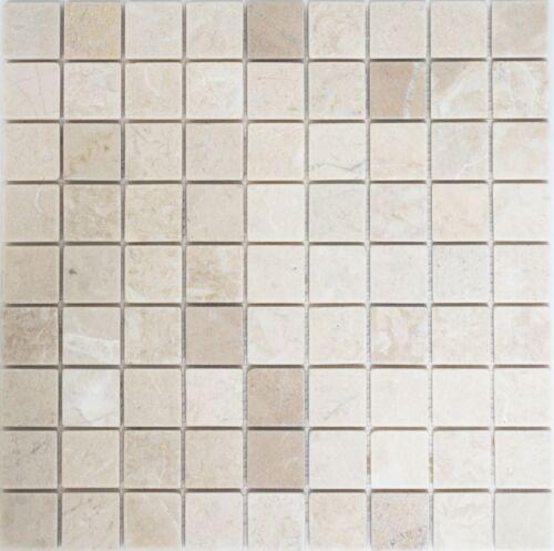 Mosaik Marmor Botticino anticato Wand Küche Bad Küche WC42-0104/_f10 Matten