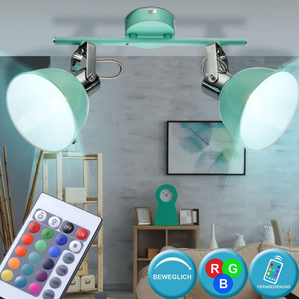 Rgb LED Lámpara de Techo Reflector Ajustable Control Remoto Spot Luz Regulable