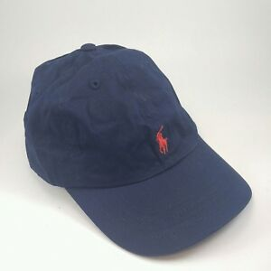 494b640805f Boy s 4 - 7 POLO Ralph Lauren Black Strapback Hat with Red Pony