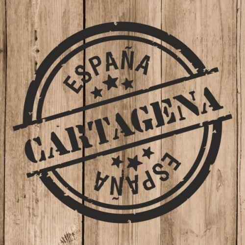 Vinilo de Corte Cartagena Pegatina Cartagena España 10 cm Adhesivo Pared Tablet