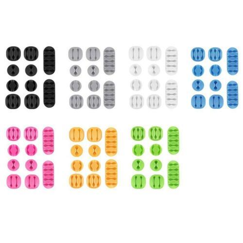 10 Stücke Kabel Drop Clip Schreibtisch Draht Ordentlich USB Lade Kabel Orga J9X6