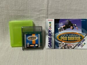 Tony Hawk Pro Skater Nintendo Gameboy Color Cartridge Manual Authentic & Working