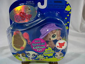 BNIB-LITTLEST-PET-SHOP-SPECIAL-EDITION-PET-PUPPY-WITH-MUD-PAD-BRUSH-amp-HAT-830