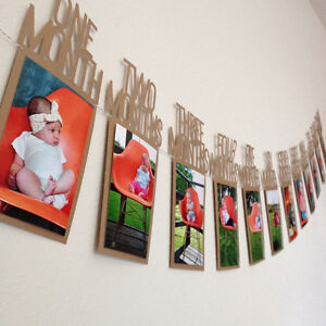 JW/_ BU/_ Kids Baby Birthday Gift Decoration 1-12 Month Picture Banner Photo Wal
